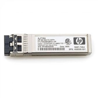 HP 8Gb Short Wave FC SFP AJ718A 8Gb Short Wave Fibre Channel SFP Finisar FTLF8528P3BNV Multi-mode 850nm Transceiver