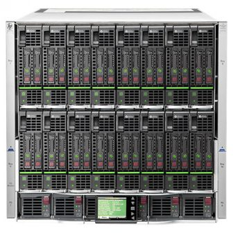 HP BladeSystem Enclosure BLc7000 Platinum 681844-B21 6x 2450W PSU 500242-001 2x HP Onboard Administrator KVM 459526-001 10x FAN