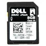 Dell PowerEdge iDRAC 8GB VFlash SD Card 0GR6JR