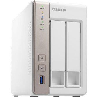 Qnap TS-253A QTS-Linux Combo NAS N3150 1,6GHz CPU 4GB RAM 2TB Hot Swap SATA HDD 2x 4K HDMI Out 3x USB 3.0 2x RJ45 White