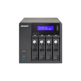 Qnap TS-453 Pro NAS Intel Celeron 2GHz CPU 8GB RAM 12TB Hot Swap SATA HDD 4K HDMI Out 3x USB 3.0 3x USB 2.0 4x RJ45