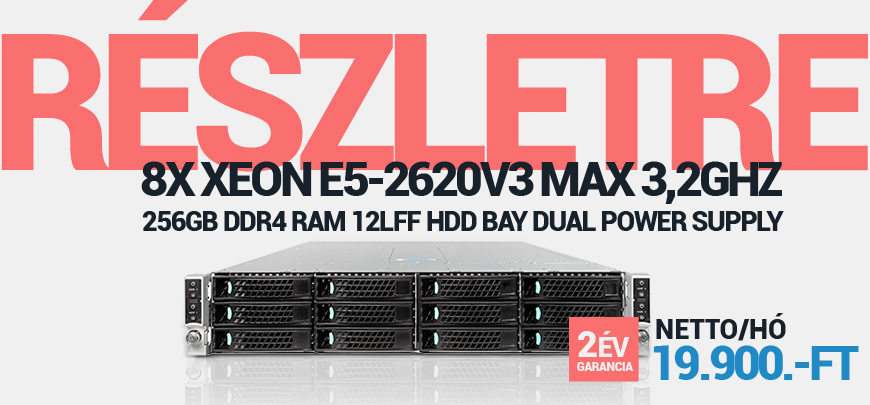 Intel H2000 4Node Server S2600KP 2x Xeon 6Core E5-2620v3 2,4GHz 256GB DDR4 RAM 12LFF Hdd Bay 0HDD 2x 1600W PSU 2U Rack
