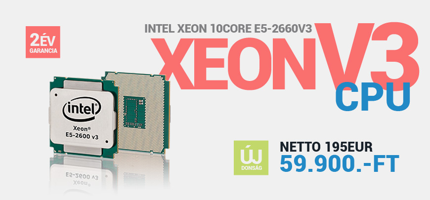 Intel Xeon Ten Core E5-2660v3 2,6GHz 10Core HT 20Threads maxTurbo 3,3GHz FCLGA2011 25MB Cache 9,6GT/s 105W CPU SR1XR