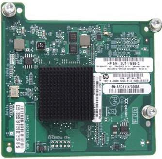 Qlogic QMH2572 8Gb Fibre Channel Dual Port Mezzanine Board HBA Host Bus c-Class BladeSystem HP 651281-B21 656452-001